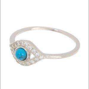 NWT Adornia Evil Eye Turquoise Ring-size 6